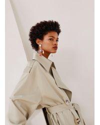 Mango - Mixed Asymmetric Earrings - Lyst