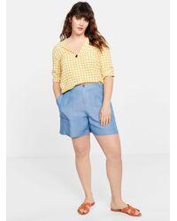 Mango Denim Soft Fabric Shorts Medium Blue