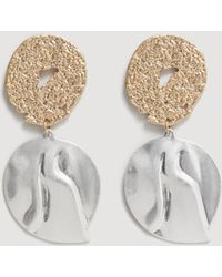 Mango - Metal Pendant Earrings - Lyst