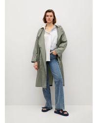 Mango Foldaway Water-repellent Raincoat - Multicolour