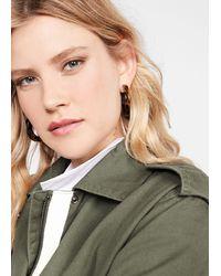 Mango - Tortoiseshell Resin Earrings Gold - Lyst