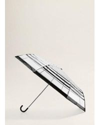 Mango - Striped Umbrella Black - Lyst