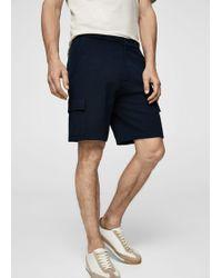Mango - Pockets Cotton Bermuda Shorts - Lyst