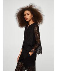 Mango - Floral Lace Jacket - Lyst