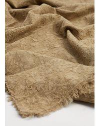 Violeta by Mango Textured Cotton Scarf - Natural