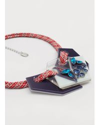 Violeta by Mango   Mixed Piece Necklace   Lyst