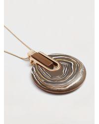 Violeta by Mango   Pendant Long Necklace   Lyst