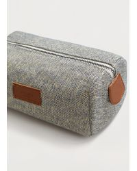 Violeta by Mango - Textured Cotton Cosmetic Bag - Lyst