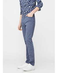 Mango - Slim-fit 5 Pocket Garment-dyed Trousers - Lyst