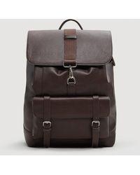 Mango - Pockets Pebbled Backpack - Lyst