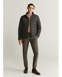 Mango - Water-repellent Quilted Jacket Chocolate - Lyst