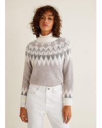 Mango - Knit Embroidered Jumper - Lyst