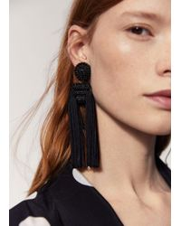 Mango - Fringe Beads Earrings - Lyst