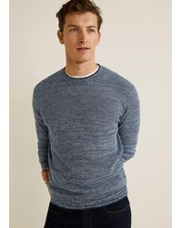 Mango - Flecked Structure Cotton Sweater - Lyst