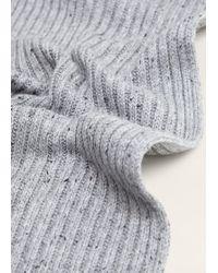 Mango - Flecked Knit Scarf - Lyst
