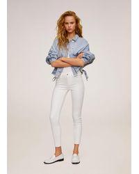 Mango - Kim Skinny Push-up Jeans White - Lyst