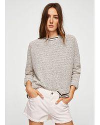 Mango - Flecked Cotton-blend Sweater - Lyst