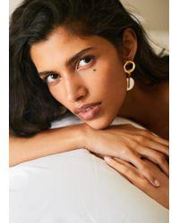 Mango - Shell Earrings - Lyst