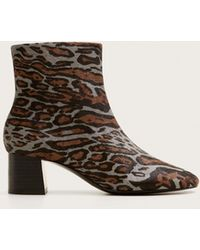 7922435a425 Leopard-print Leather Ankle Boots - Brown