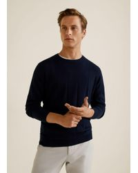 Mango - Checked Structure Sweater - Lyst