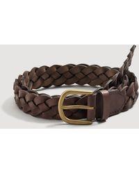 Mango - Braided Leather Belt - Lyst