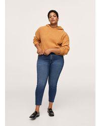 Violeta by Mango Jeans skinny crop Isa - Blu