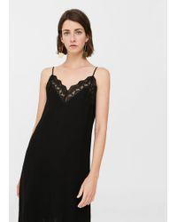 Mango - Blonda Detail Dress - Lyst