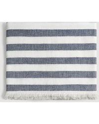 Mango - Stripe-pattern Cotton Scarf - Lyst