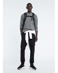 Mango Long-sleeve Technical T-shirt - Gray