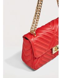 Violeta by Mango Quilted Chain Bag - Red