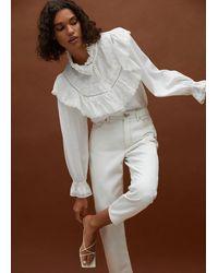 Mango Knots Heel Sandals - White