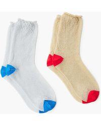 Mango - Metal Thread Socks - Lyst