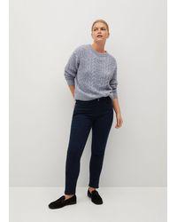 Violeta by Mango Velvet End Jeans - Blue