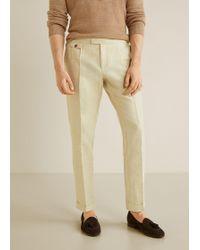 Mango - Regular-fit Cotton Linen Trousers - Lyst