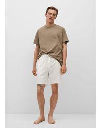 Mango Cotton Pyjama T-shirt - Brown