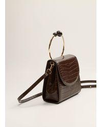 Mango Rigid Handle Bag Chocolate - Brown
