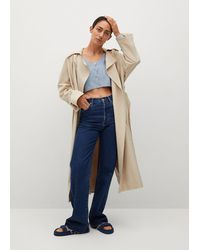 Mango Lyocell Flowy Trench - Natural