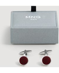 Mango - Button Cufflinks - Lyst