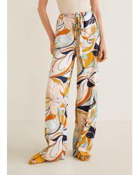 Mango - Flower Print Trousers - Lyst