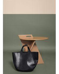 Violeta by Mango - Snake-effect Shopper Bag - Lyst