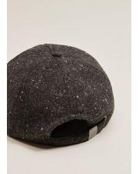 Mango - Flecked Flat Cap - Lyst