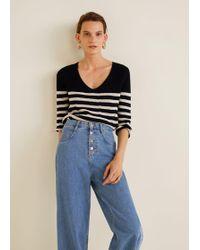 Mango - Knit Striped Jumper - Lyst