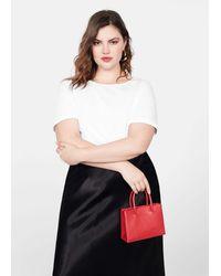 Violeta by Mango Mini Shopper Bag - Red