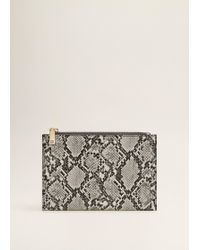 Mango - Snake-effect Cosmetic Bag - Lyst