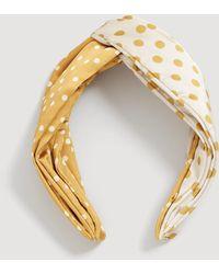 Mango - Polka-dot Combined Hairband - Lyst