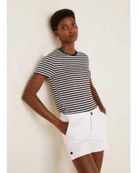 Mango - Cotton-blend Shorts - Lyst
