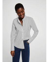 Mango | Printed Cotton Shirt | Lyst