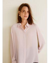 Mango - Contrasting Seams Shirt - Lyst