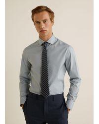 Mango - Striped Silk Tie - Lyst