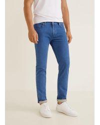 Mango - Slim-fit Medium Wash Patrick Jeans - Lyst